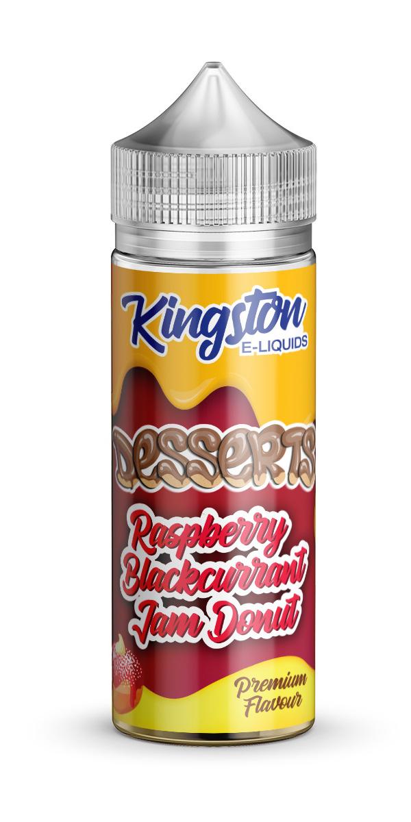 Kingston Desserts - Raspberry Blackcurrant Jam Donut - 120ml